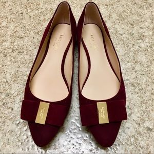 Kate Spade Norah suede maroon pointed flats